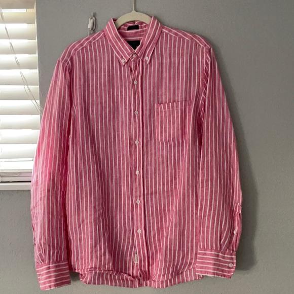 J.Crew Baird McNutt Slim Long Sleeve Linen Shirt